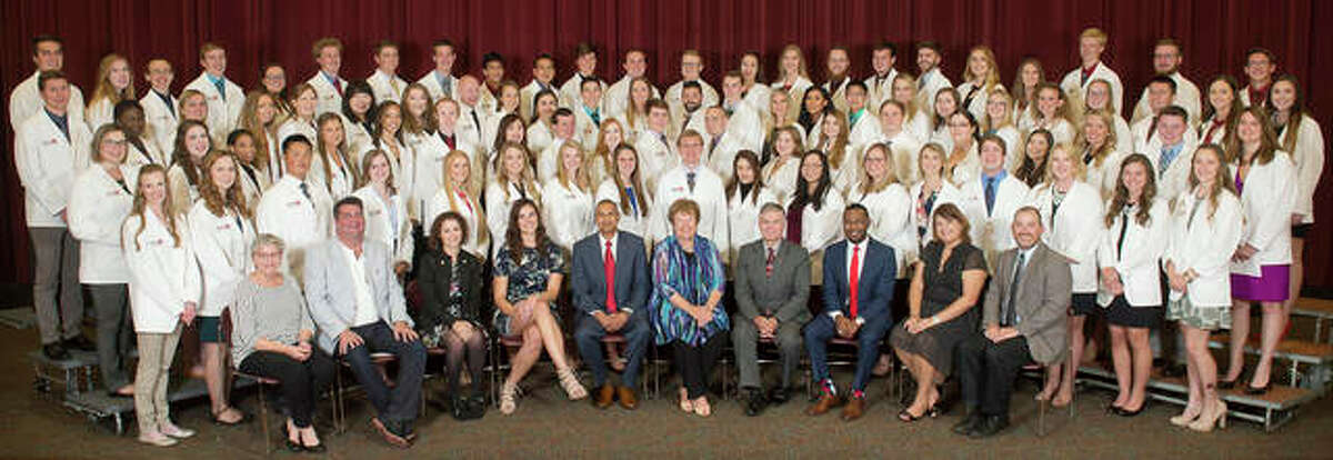 The SIUE School of Pharmacy Class of 2021 is shown during its White Coat Ceremony.
