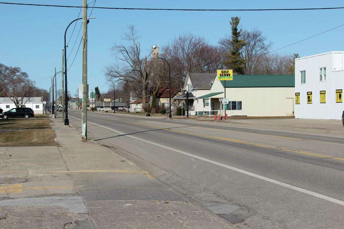 A stretch of the M-142 running in the eastern part of Bad Axe. MDOT is planning for road resurfacing in a few years, with the city wanting other infrastructure work to happen at the same time. (Robert Creenan/Huron Daily Tribune)