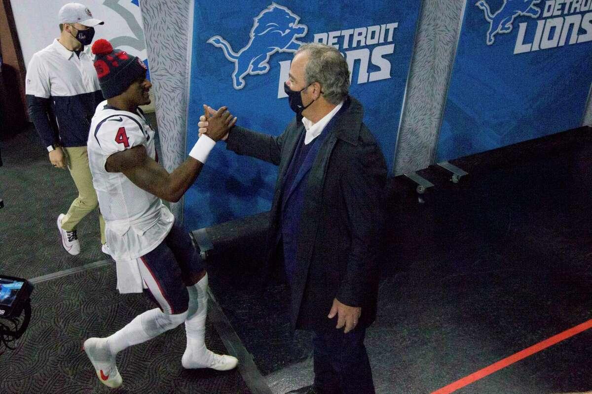 Texans chairman Cal McNair said he didn't know anything new on status of quarterback Deshaun Watson.