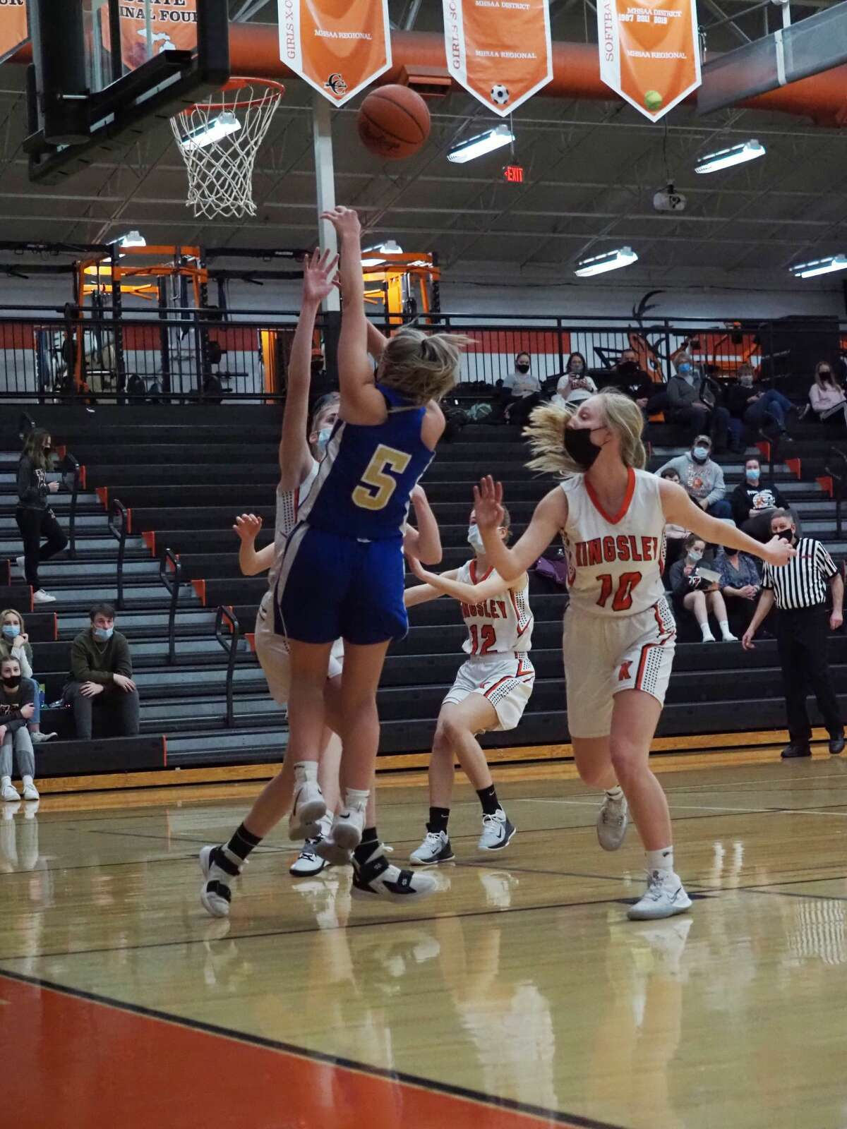 The Onekama girls basketball team fell to Kingsley on the road on Thursday, March 18.