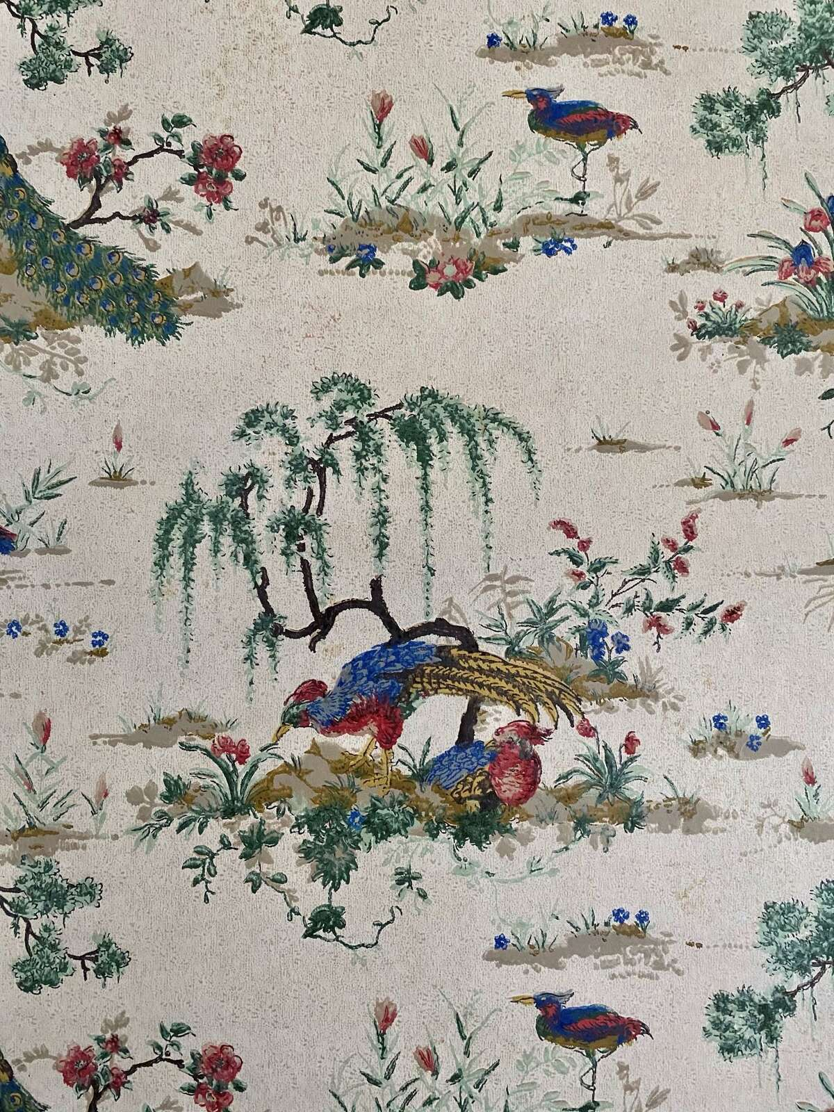 The wallpaper of the Bellamy-Ferriday House & Garden, chosen by its last resident, Caroline Ferriday, and installed between 1910-1950, is beginning to show its age. Connecticut Landmarks Collections Team has begun a three-phase Wallpaper Restoration Project to remove the existing papers and replace them with reproductions.
