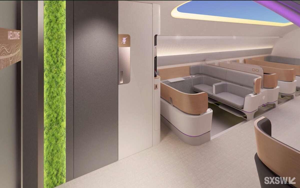 SXSW2021パネルで提示されたVirginHyperloopのレンダリング