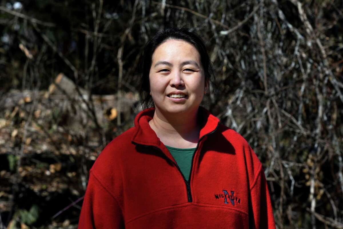 Jennifer Zhao, an adjunct professor at Russell Sage College, says the recent wave of anti-Asian violence is very concerning to her on Friday, March 19, 2021, in Niskayuna, N.Y. (Will Waldron/Times Union)
