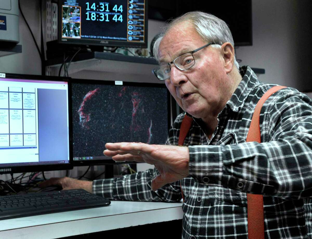 Monty Robson, is the director of the John J. McCarthy Observatory in New Milford. Photo taken in 2018.