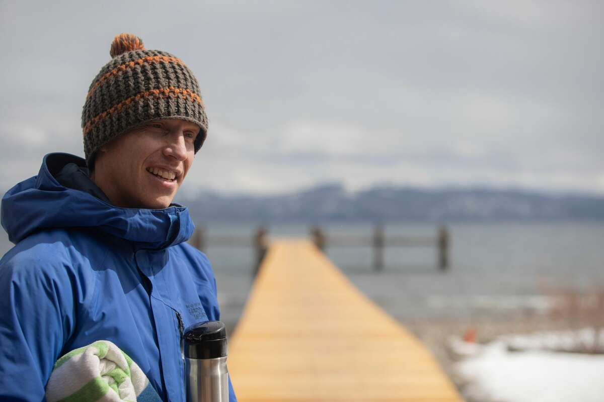 Nicholas Mitchell is a Tahoe resident who decided to swim in the lake for 365 consecutive days. He is halfway through his personal quest.