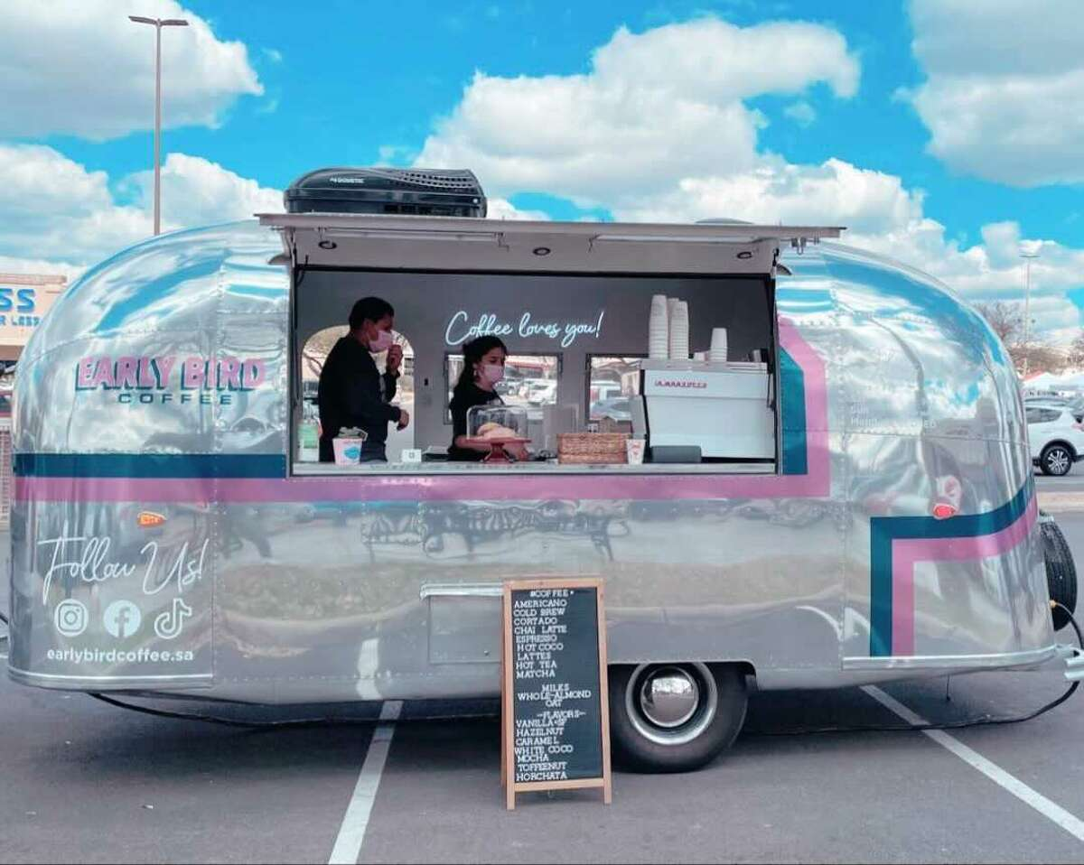 EARLY BIRD COFFEE The local truck says to try its iced horchata latte, salted caramel latte, nitro cold brew, ice matcha, and white chocolate lavender latte.  Located 11745 Frontage Road at the Huebner Oaks Center; 7 a.m. to 1 p.m. Tuesday through Friday, 9 a.m. to 2 p.m. Saturday, and closed Sundays. Instagram: @earlybirdcoffee.sa