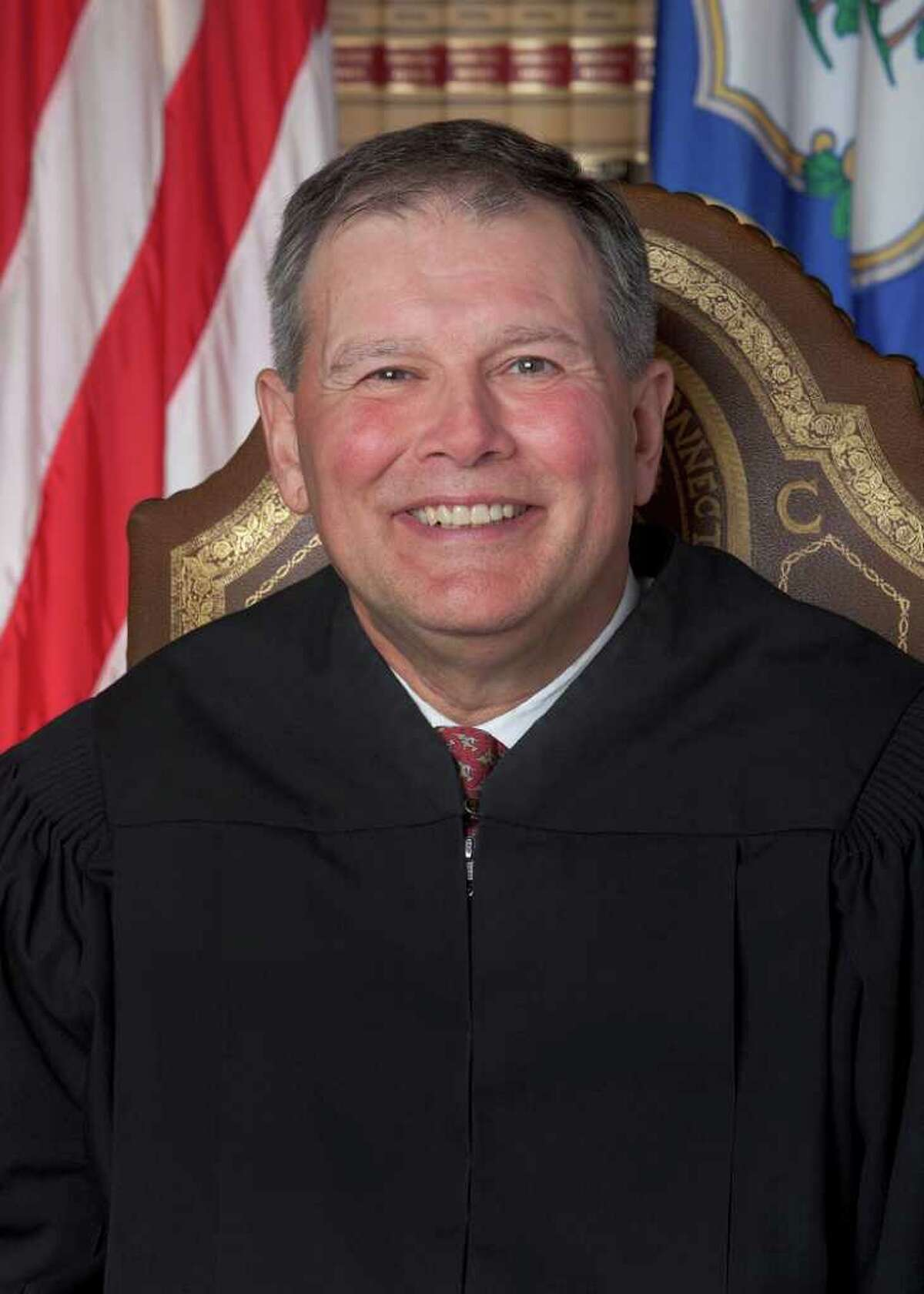 Supreme Court Justice Dennis Eveleigh, a native of Stamford who now lives in Hamden, was appointed earlier this summer to the state's highest court.