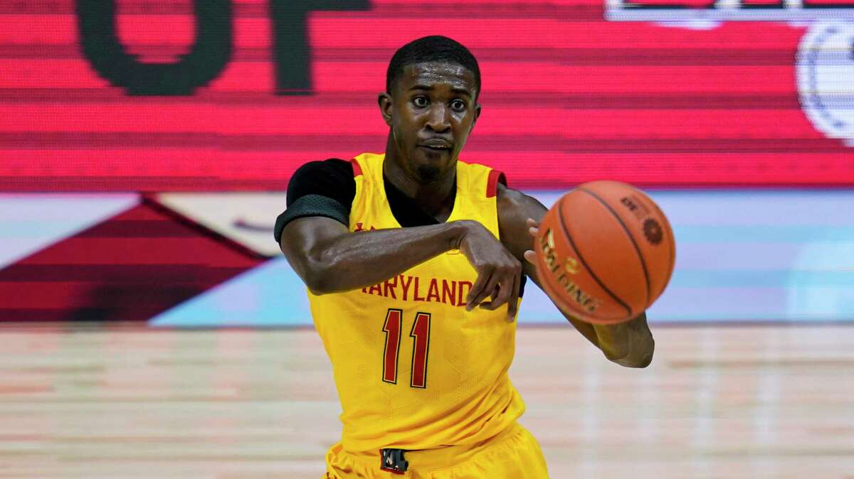 Maryland guard Darryl Morsell is the Terrapins top defender, will like draw the assignment of guarding UConn's James Bouknight.