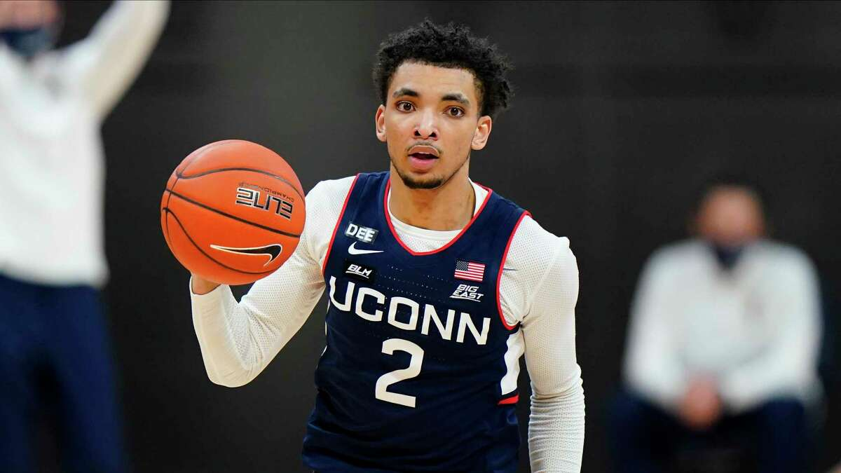 UConn's James Bouknight and the Huskies face Maryland in the NCAA Tournament on Saturday.