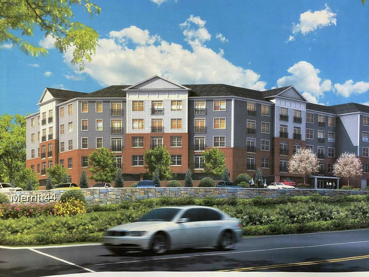 Artist rendering of the proposed apartment project at 4185 Black Rock Turnpike in Fairfield.