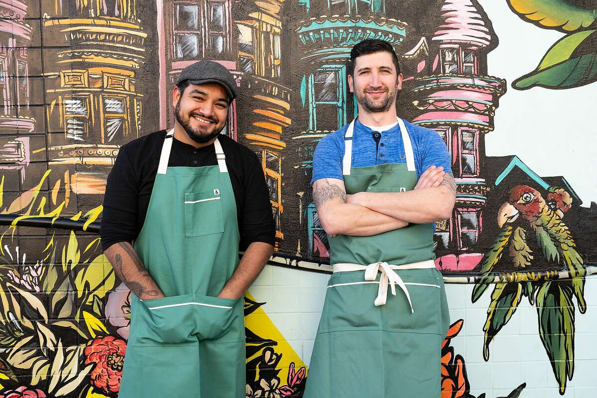 Elmer Mejicanos (left) and Adam Rosenblum are the owners of Red Window and Little Red Window in San Francisco's North Beach.