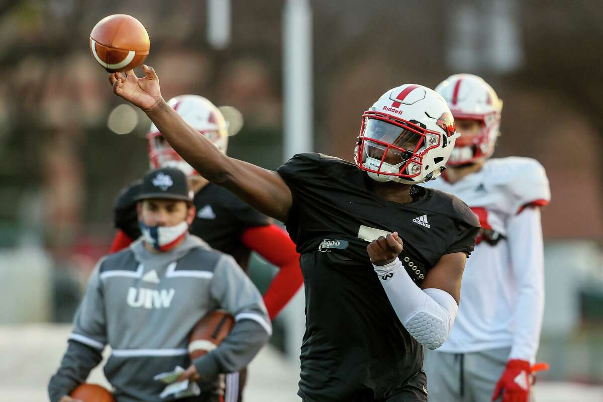 UIW quarterback Cam Ward follows in the footsteps of former North Dakota State quarterback Trey Lance, who also won the Jerry Rice Award as a freshman and was drafted No. 3 overall.