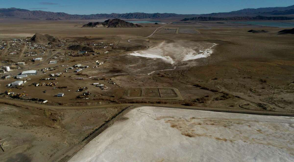 Albemarle's lithium mine and processing plant in Silver Peak, Nevada. Energy security increasingly means access to minerals such as lithium, a key component in batteries.