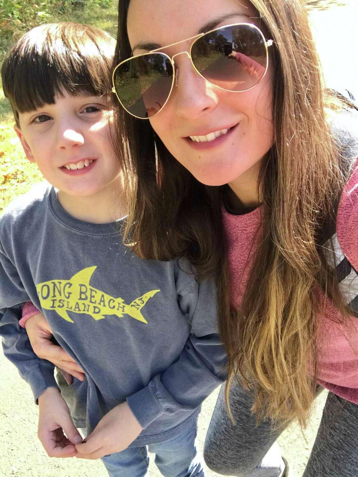 Christina Augliera and her son Connor.