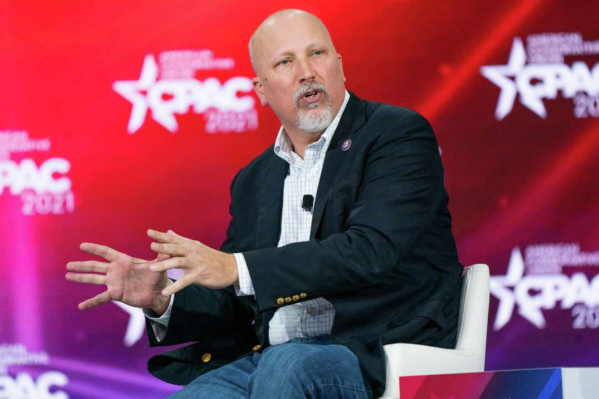 U.S. Rep. Chip Roy speaks in Florida on Feb. 27. Roy finds himself embroiled in controversy over a remark he made, meant to support Asian Americans under attack, that referenced lynching in Texas.