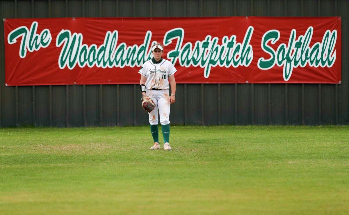 The Woodlands center fielder Gabby Leach (10) was named the District 13-6A Utility Player of the Year.