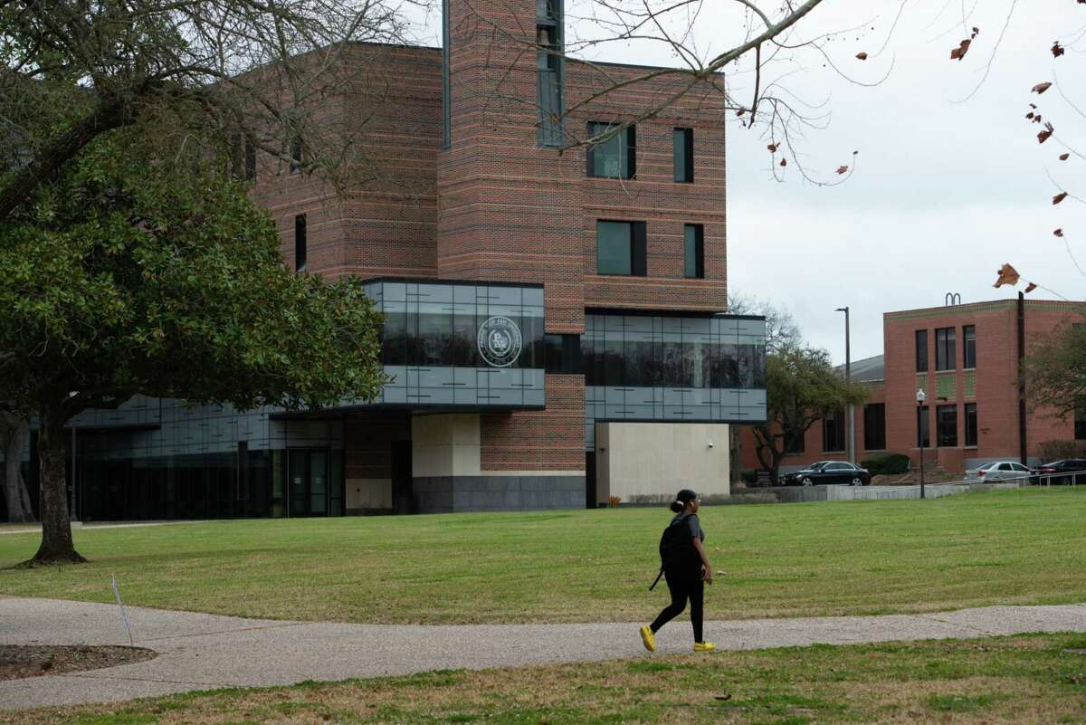 The Prairie View A&M University campus in Prairie View, Texas, on March 10, 2021.