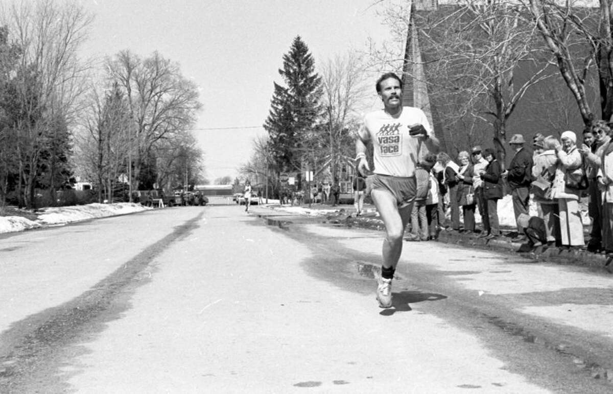 The second annual Kaleva Finnish Line race was held this past weekend and drew 136 runners who went the distance. Photos of the event, like the above, were originally published in the News Advocate on March 22, 1981. (Manistee County Historical Museum photo)