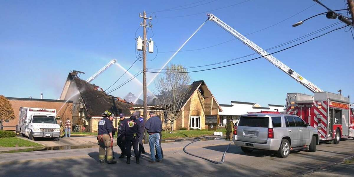 The Pasadena Fire Department battled flames and smoke Saturday morning March 20, 2021 at a vacant church that once housed the Community of Christ. No one was injured and the cause of the fire remains under investigation.
