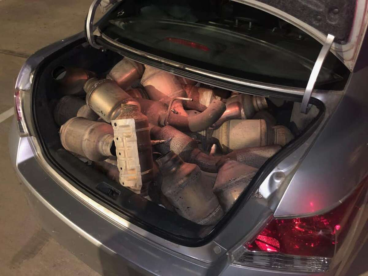 HCSO deputies found a trunk full of stolen catalytic converters during a traffic stop on Friday night. The agency arrested four people.