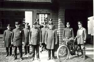Greenwich police in 1910.