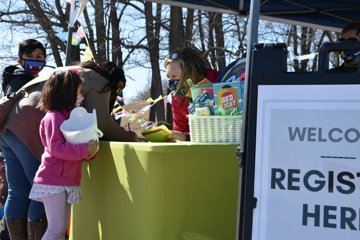 About 3,000 eggs were hidden around Lighthouse Park in Manistee on Saturday for the second Manistee United Methodist Church egg hunt. About 175 participants registered for the family egg hunt that separated family groups in different hunt sessions on Saturday afternoon.