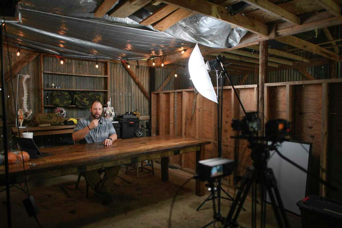 Rader speaks during the filming, done by The Prepared, a prepper website with articles, advice, reviews and videos.