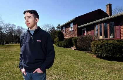 Engineering and Science University Magnet School junior Spencer Greene, 17, is photographed at his home in North Branford on March 20, 2021.