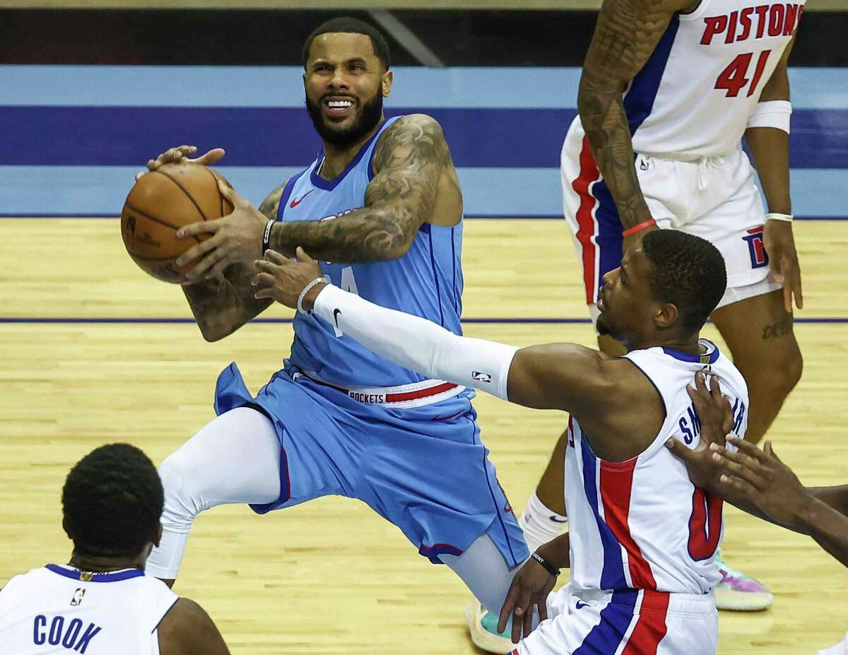 D.J. Augustin made his Rockets debut in Friday's loss to Detroit after being acquired in the trade that sent P.J. Tucker to Milwaukee.