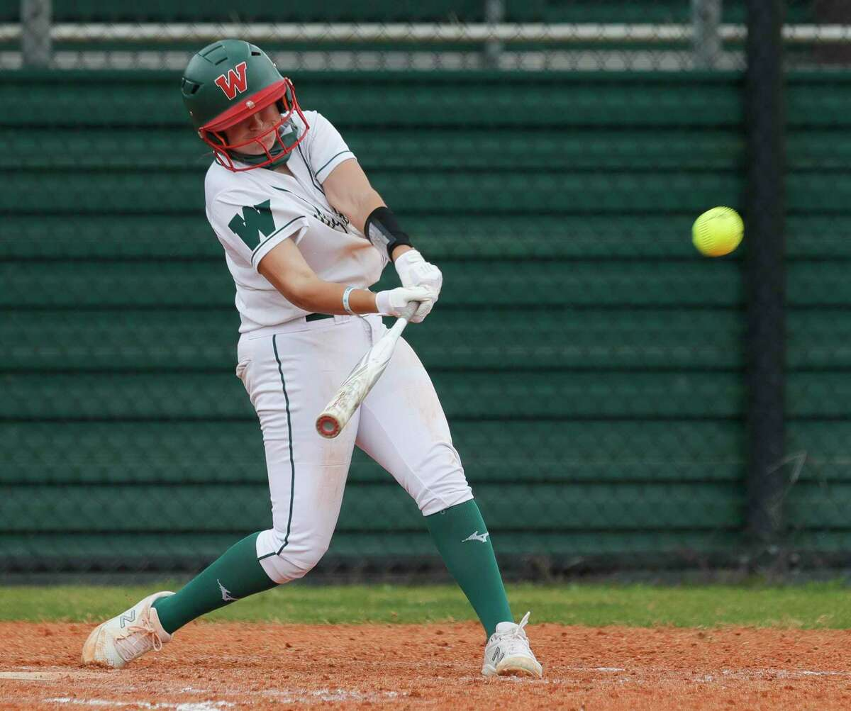 The Woodlands' Hannah Gartner, shown here earlier in the season, had a couple hits on Saturday against Bryan.