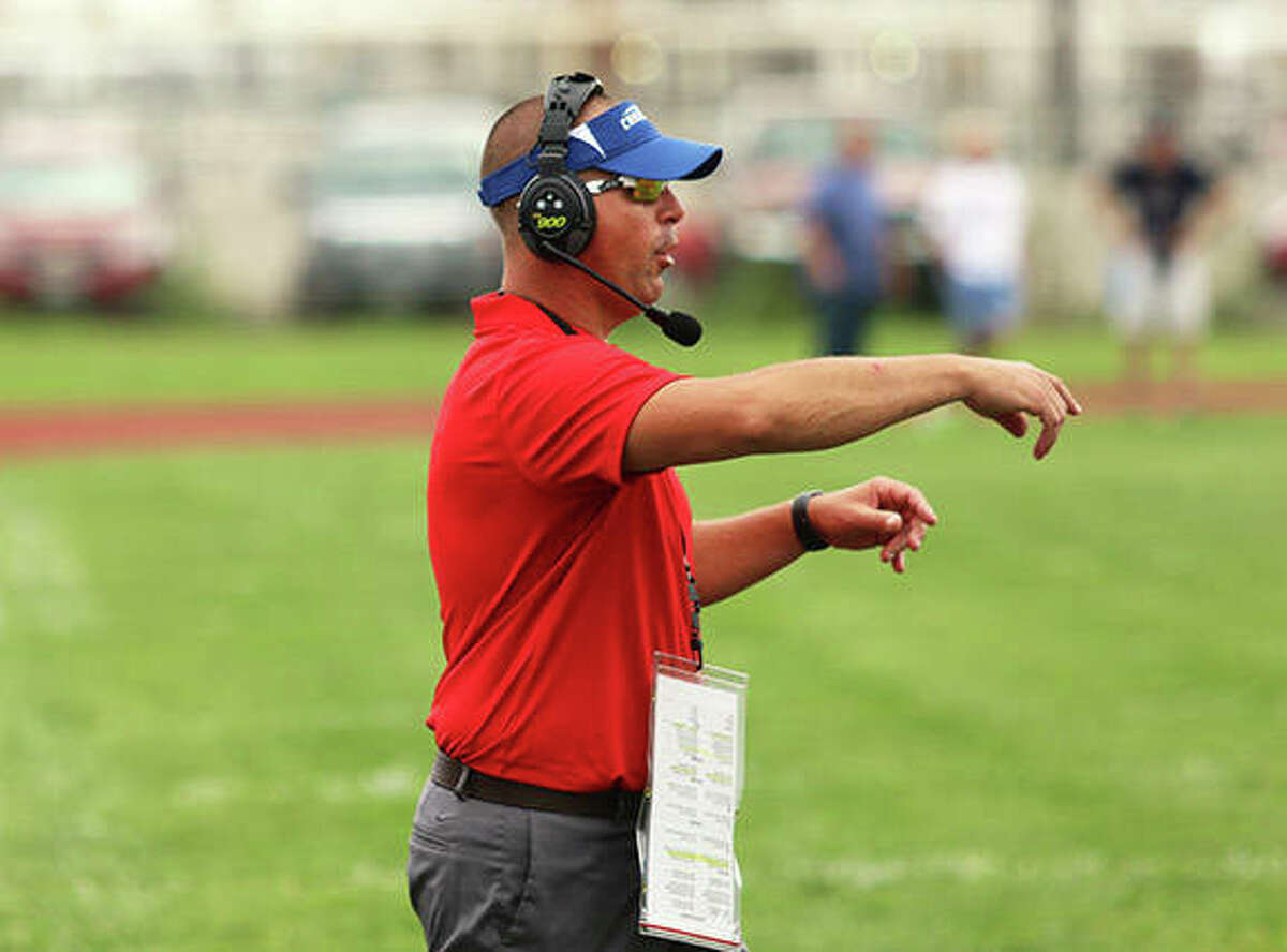 Carlinville coach Chad Easterday picked up career win No. 100 on Friday night in the Cavaliers' win at Greenville.
