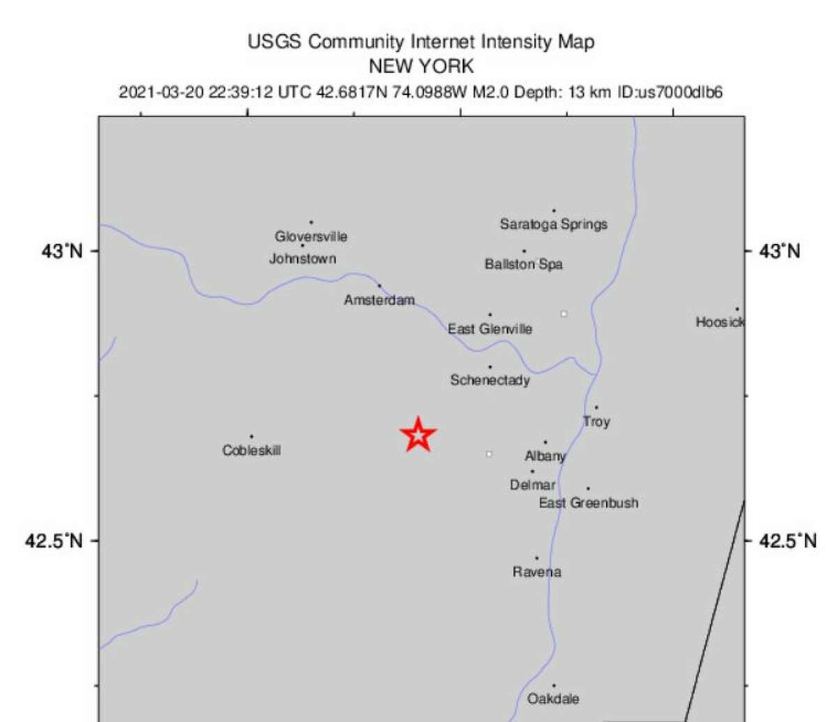 The USGS detected a 2.0 earthquake near Altamont on Saturday.
