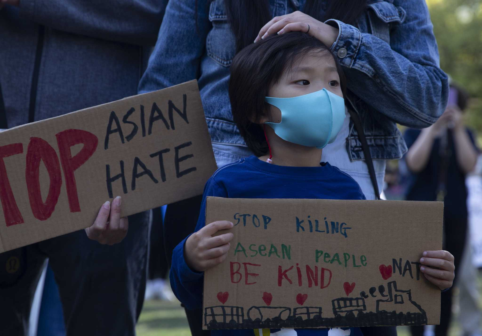 www.houstonchronicle.com: Photos: 'Stop Asian Hate' vigil, rally held at Discovery Green