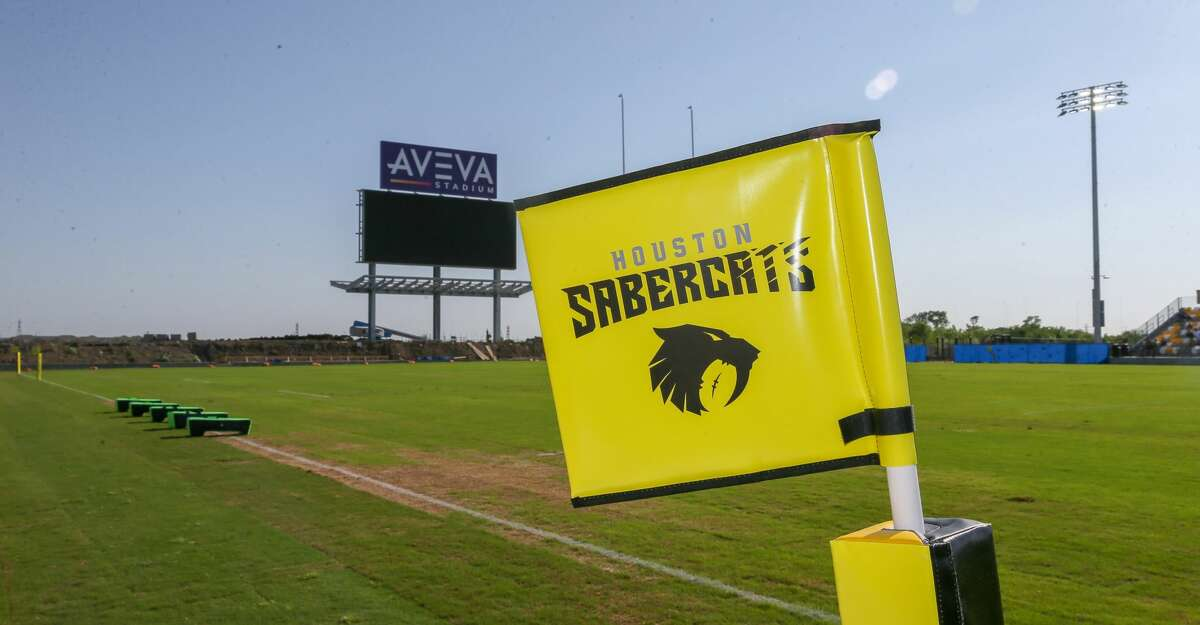 April 13, 2019: SaberCats hold a soft opening match against the Major League Rugby team Seattle Seawolves at Aveva Stadium in Houston, Texas.