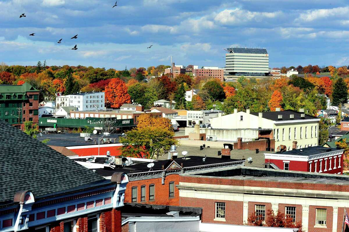 File photo: Downtown Danbury from the Bardo Parking Garage.