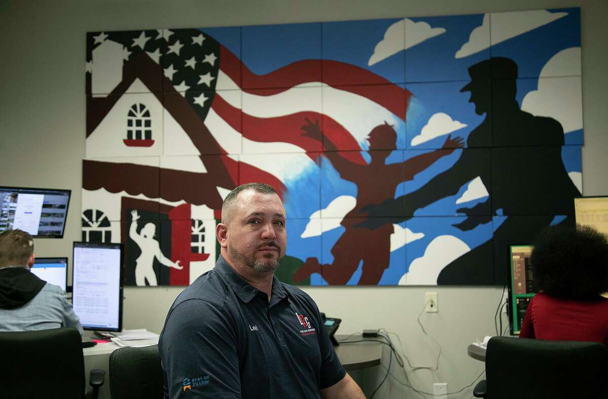 Levi Rodgers, owner of Levi Rodgers Real Estate Group, sits in his San Antonio office on Wednesday.