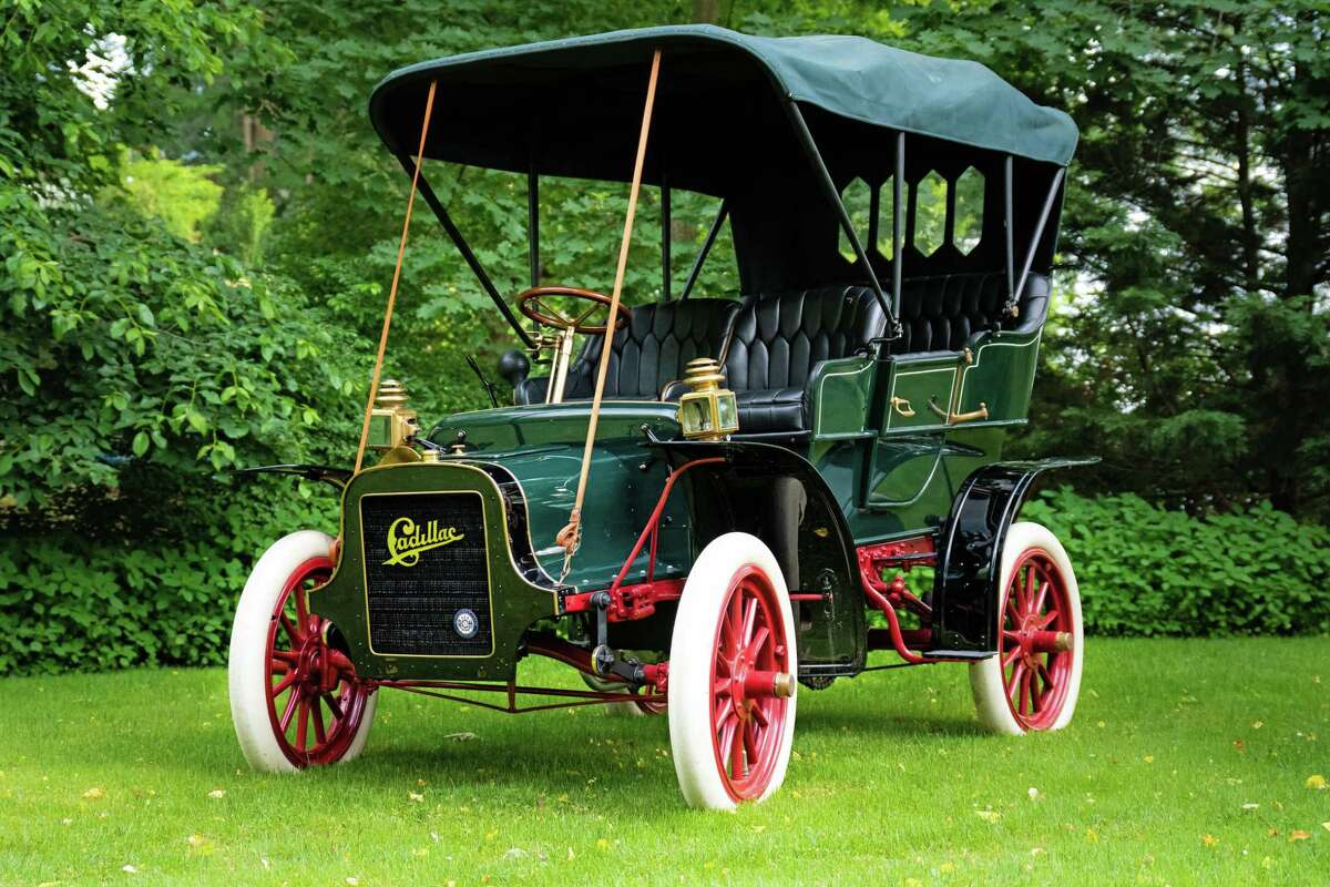 In tip-top shape, the 1907 Cadillac is restored and looking showroom ready.