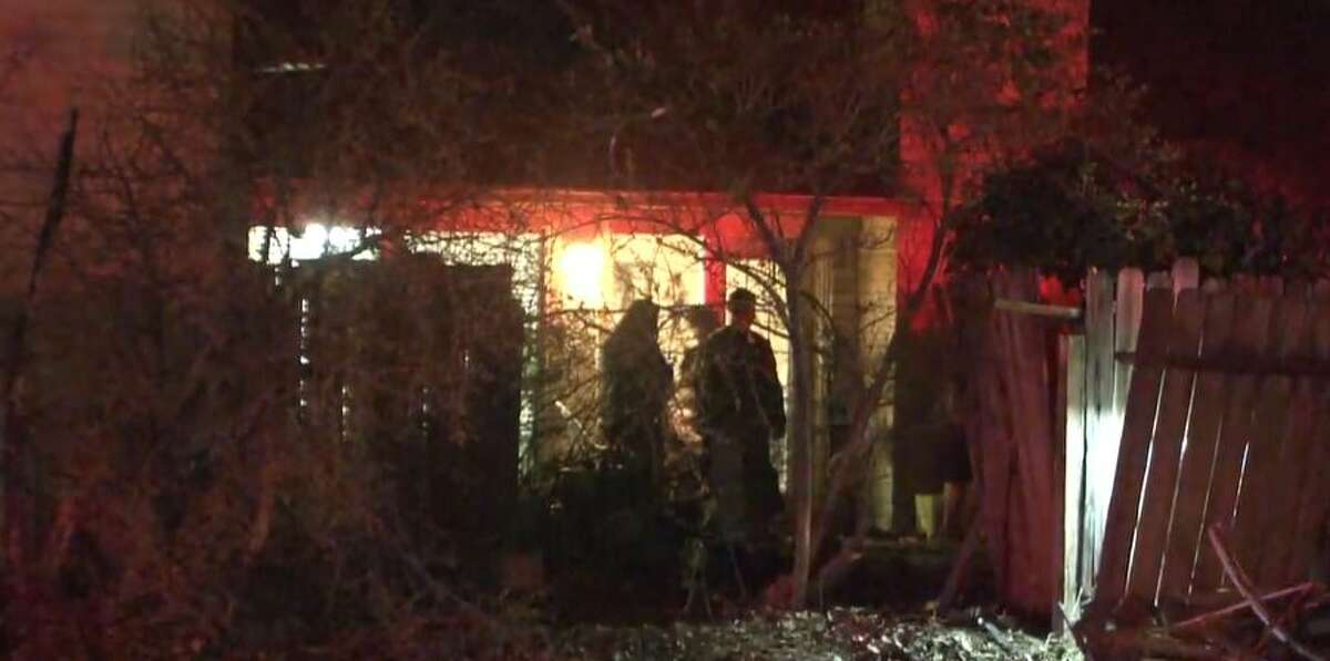 A suspected drunk driver crashed a car into a home north of Houston on Sunday night and got into a fight with the owner of the house, according to the Harris County Sheriff's Office.