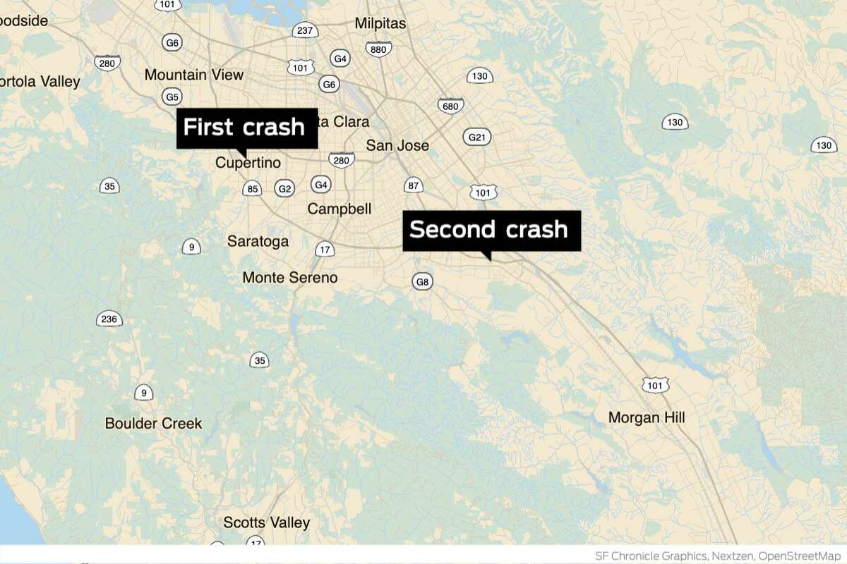 California Highway Patrol closed southbound lanes on Highway 85 in San Jose after a fatal crash north of the Cottle Road exit Sunday evening, authorities said. Police are also investigating the cause of another crash that killed one person just after 8 a.m. on southbound Highway 85.