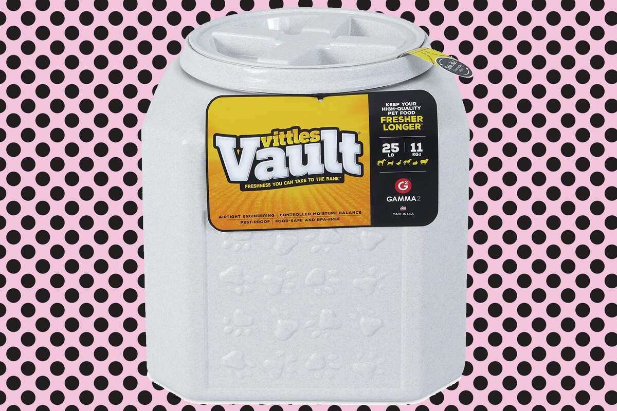 Gamma2's Vittles Vault pet food container for $14 at Amazon.