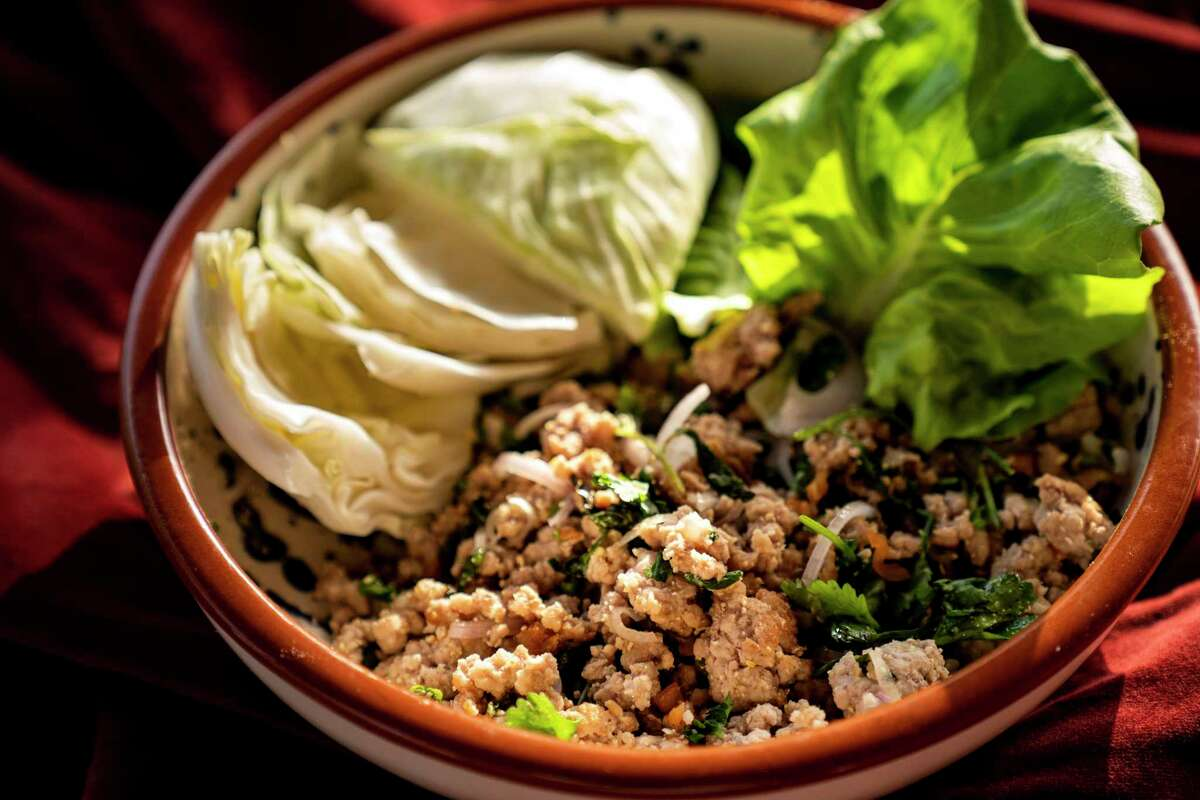 """Larb lettuce wraps is one of the dishes prepared by Houstonian Isabel Protomartir who is featured in new online cooking videos on the new Identity Network on YouTube. Her program, called """"ATE"""" (pronounced ah-teh) explores food of her native Philippines as well as other pan-Asian dishes. Identity was created to promote the cooking and cultural perspectives of people of color."""