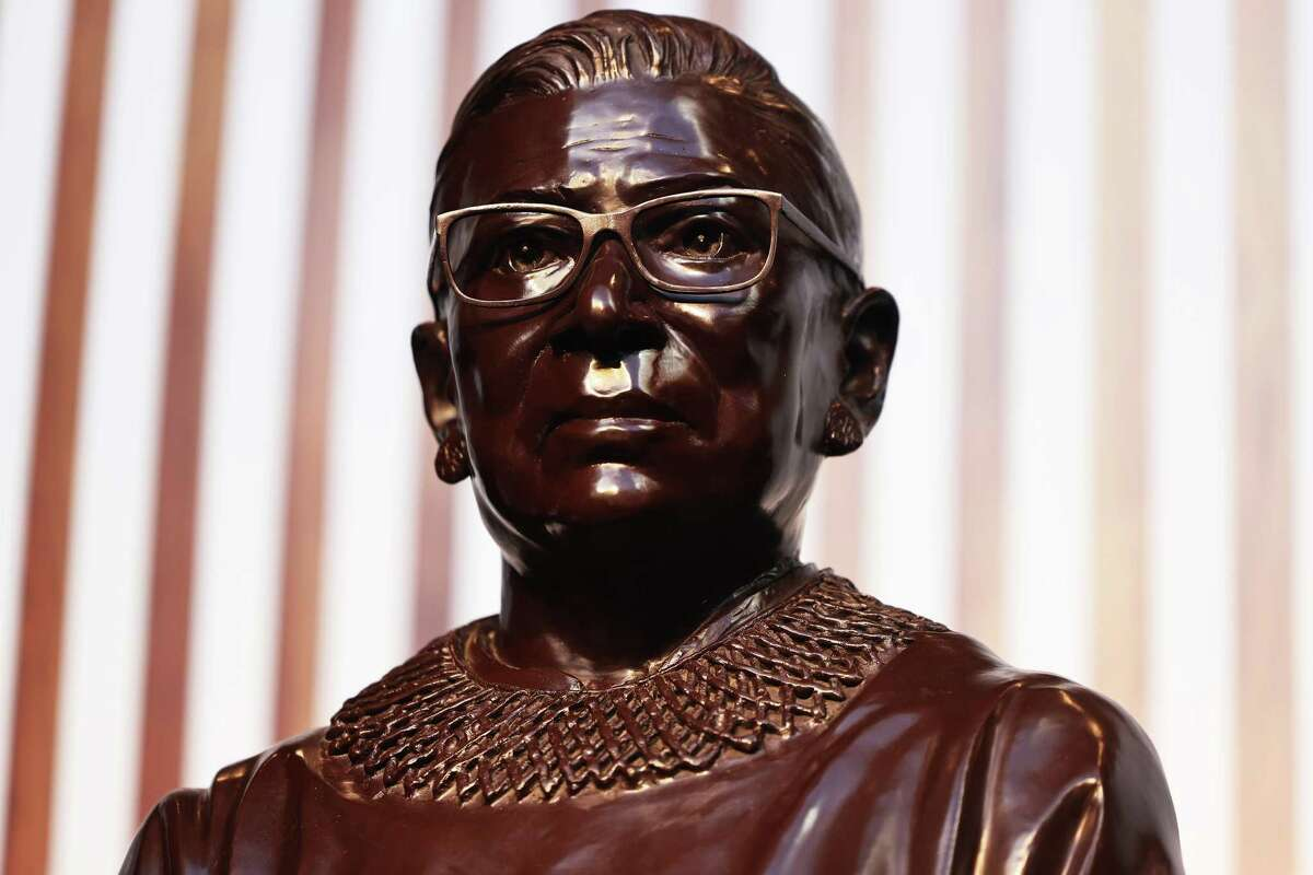 A statue in Brooklyn honors Supreme Court Justice Ruth Bader Ginsburg - a co-founder of the ACLU Women's Rights Project. Let's recognize how far Americans have come and also become resolute in closing the pay gap permanently.