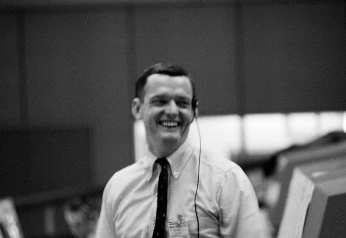 Flight Director Glynn Lunney is shown in the Mission Control Center during the Apollo 201 test flight on Feb. 26, 1966.
