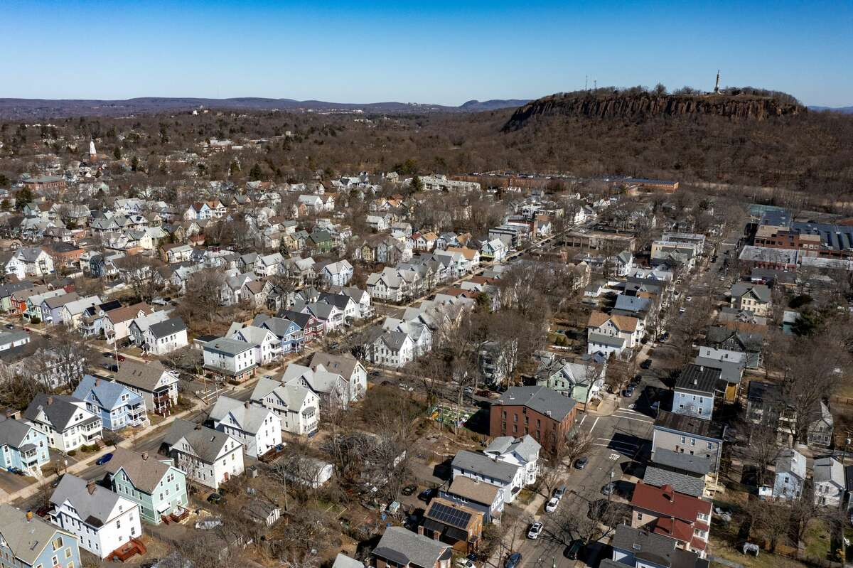 The East Rock neighborhood of New Haven on March 21, 2021.
