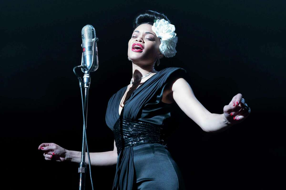 """Andra Day stars in """"The United States vs. Billie Holiday."""" (Takashi Seida/Paramount Pictures/TNS)"""
