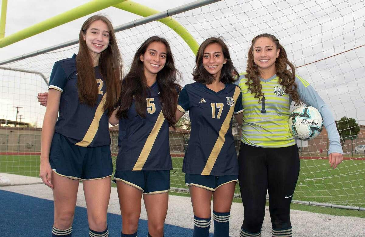 Abigail Gonzalez, Regina Nishiyama, Sara Nishyama and Tiffanie Alvarado have powered Alexander's defense this season.