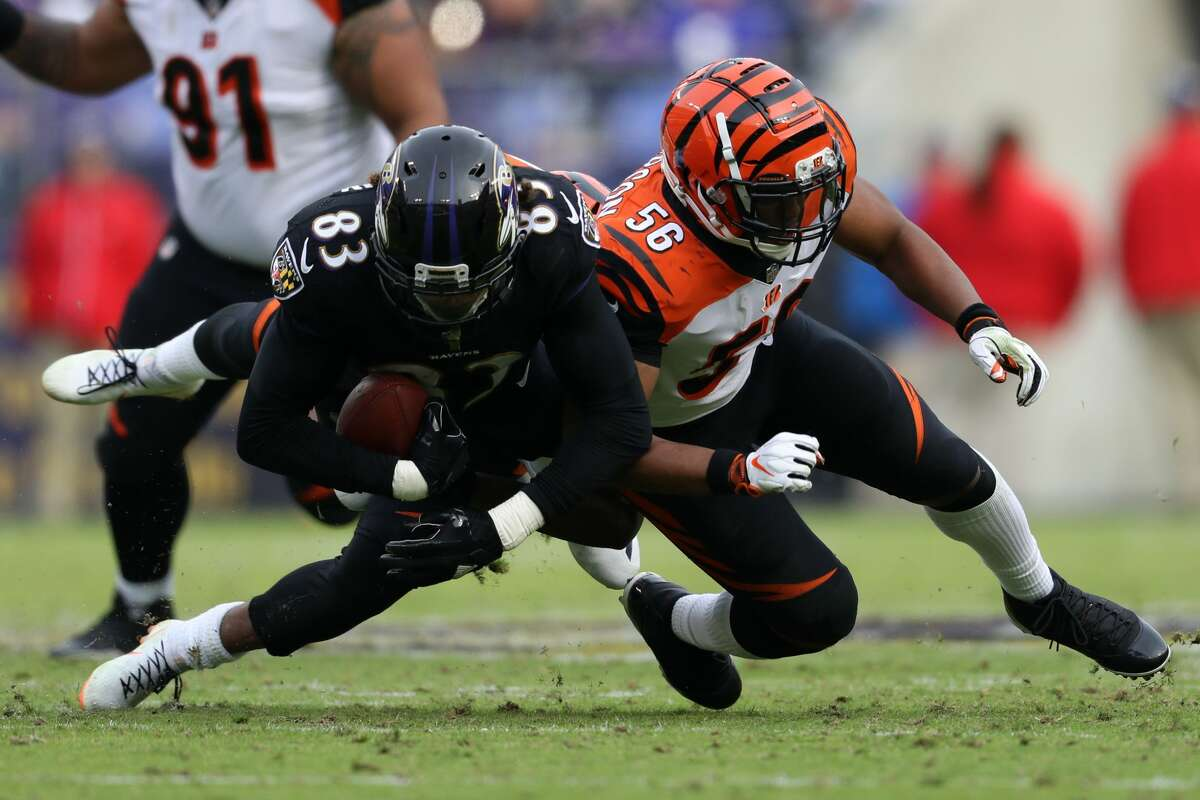 Hardy Nickerson Jr. (right) spent his first three seasons with the Bengals before playing for the Vikings last season.