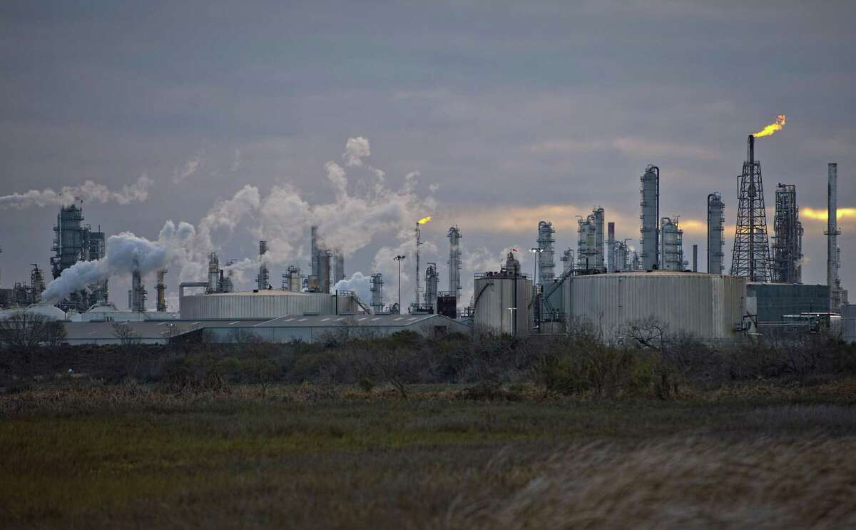 A Valero Energy Corp. refinery in Corpus Christi, Texas, U.S., Friday, Feb. 19, 2021. CPS Energy is suing natural gas suppliers, who it says gouged the utility by raising gas prices 15,000 percent during the storm. Photographer: Eddie Seal/Bloomberg