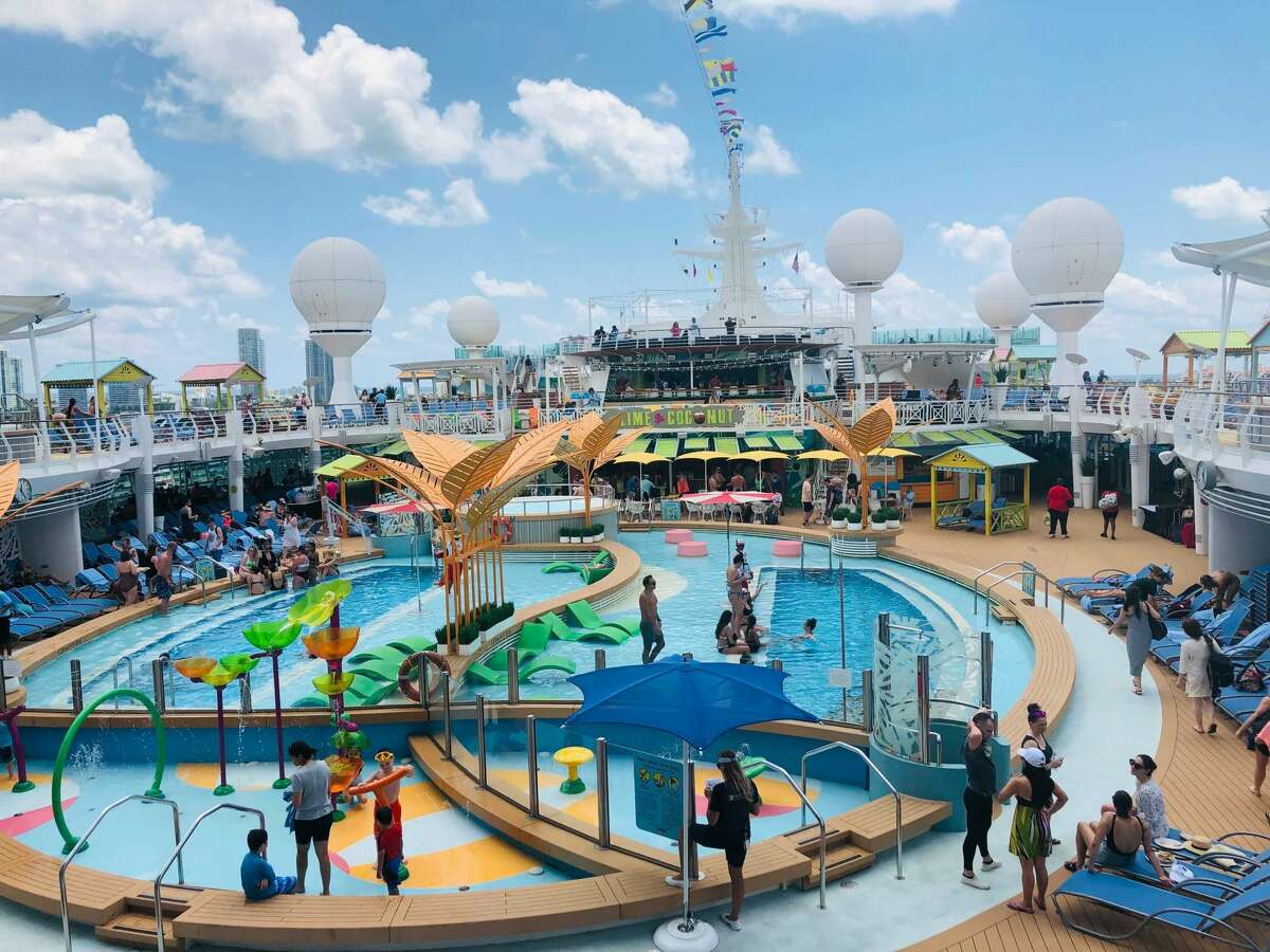The redesigned pool deck on Royal Caribbean's Navigator of the Seas