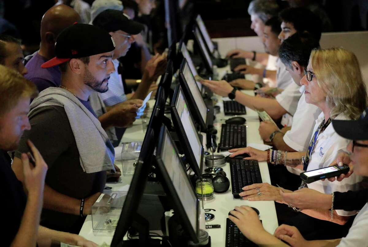 Sports wagering at the Meadowlands Racetrack, in East Rutherford, N.J., in a file photo.